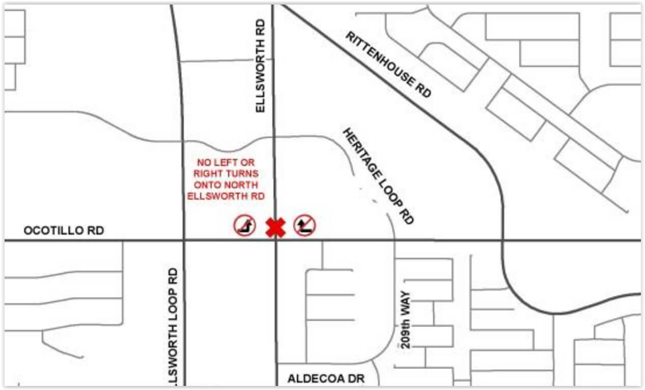 Weekend Closure of Ellsworth Road
